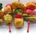 Tempura de verduras en el curso de Diciembre de Cocina Energetica