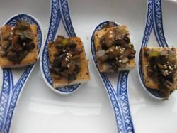 Tofu macerado con setas y puerros de Cocina Energetica