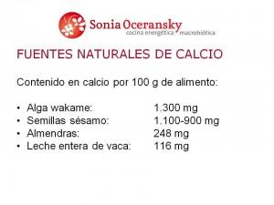 Cuidar los huesos con calcio de calidad, en nuestro curso de Cocina Energetica y Macrobiotica
