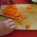 La zanahoria, en cerillas