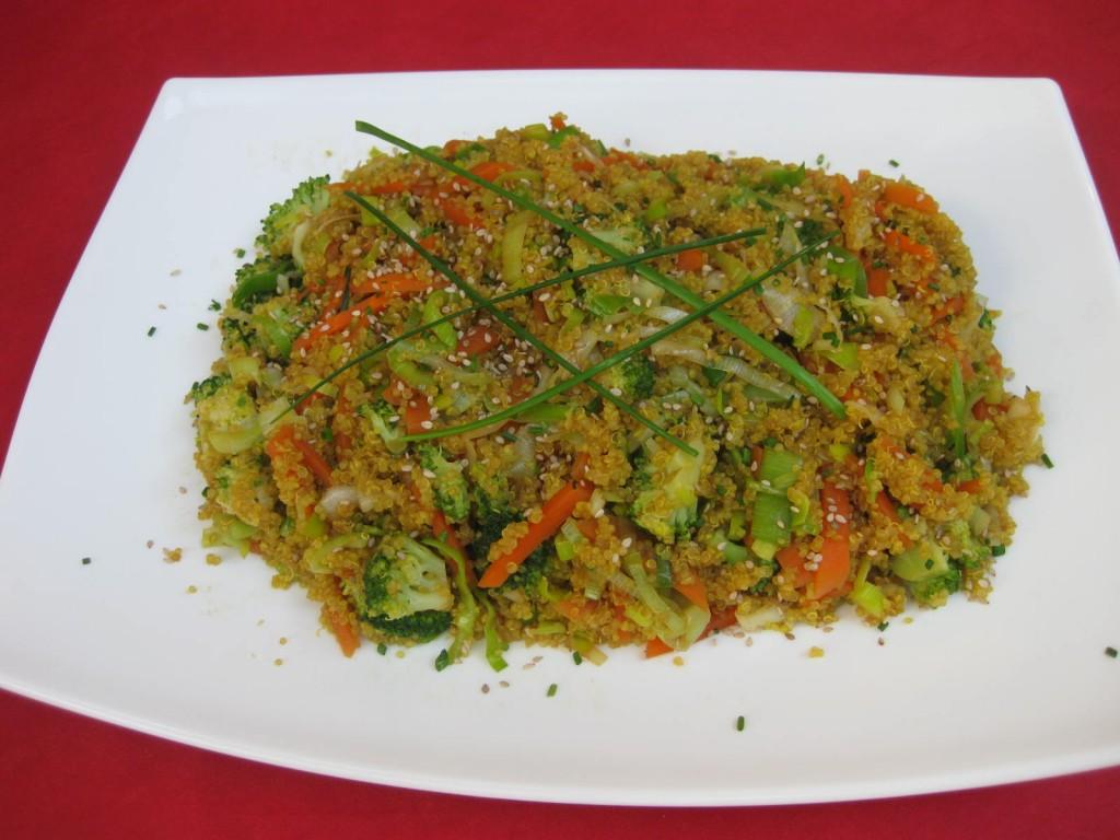 Salteado crujiente de quinoa for Cuanto se cocina la quinoa