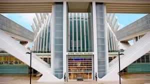 Hotel Ayre en la parte posterior del Calatrava