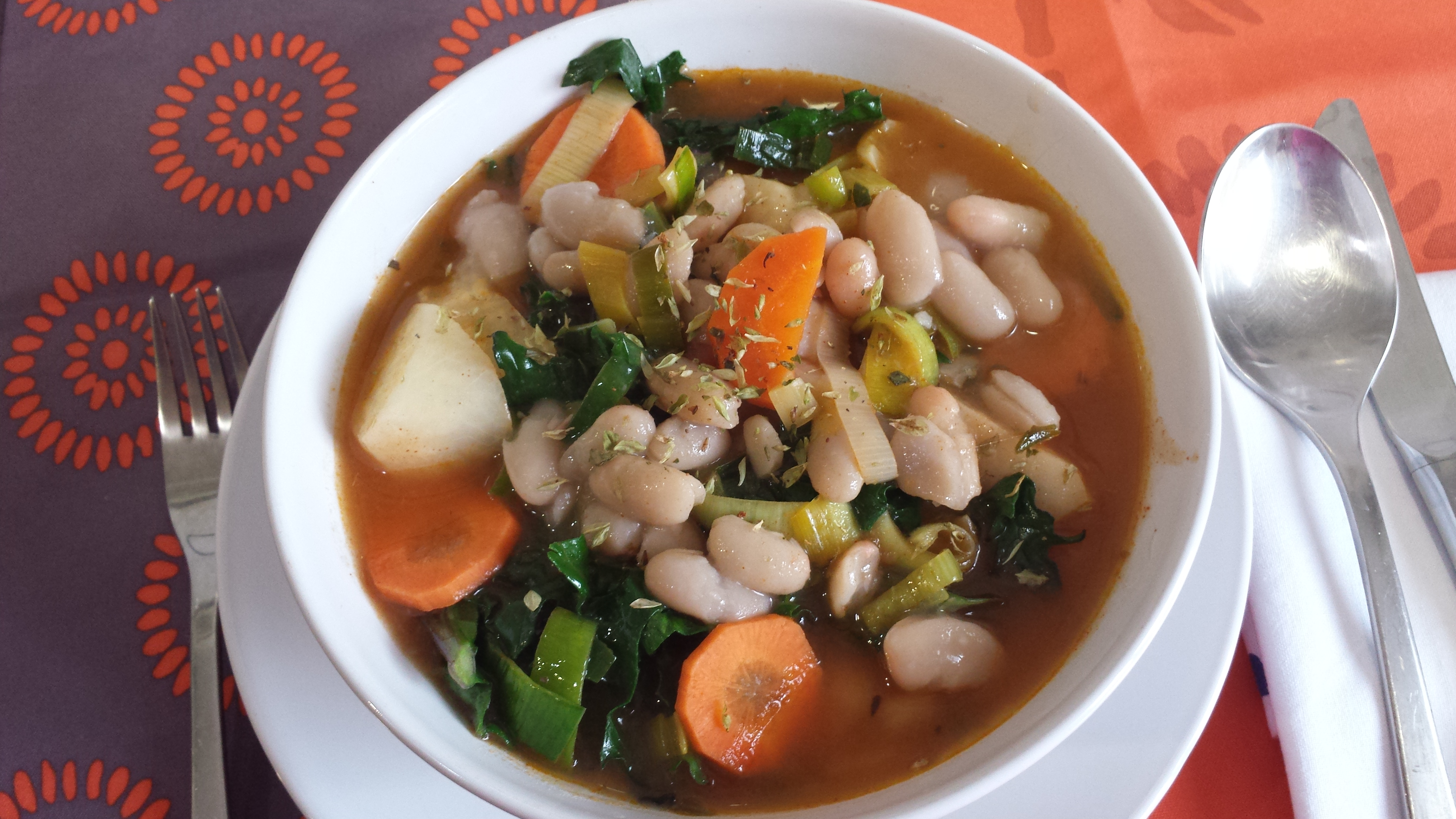 Potaje vegano de invierno con hojas verdes for Cocina macrobiotica