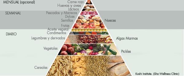 Piramide nutricional macrobiotica según Michio Kushi. Michio Kushi Institute.