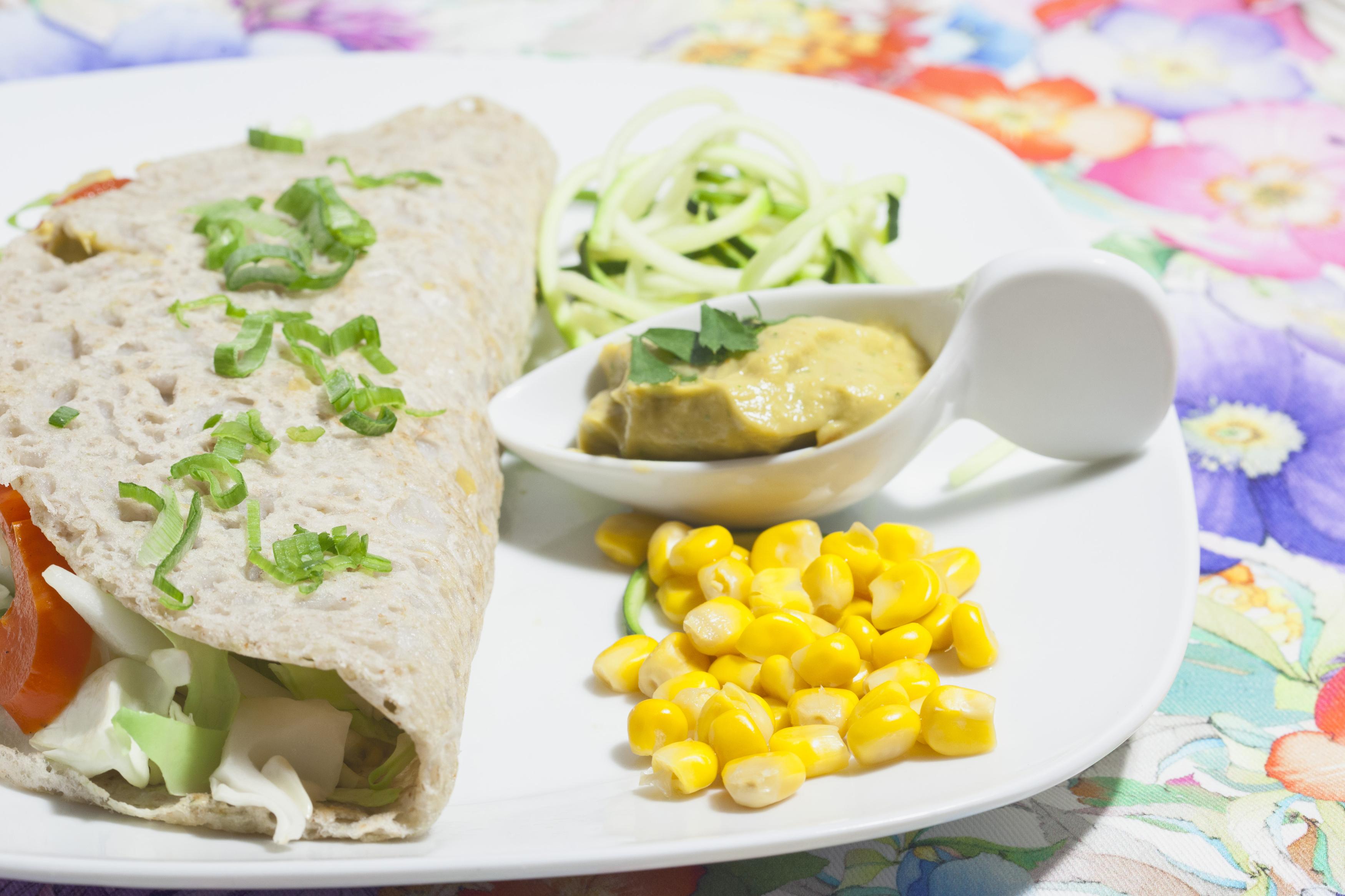 Tortitas de trigo sarraceno con kuzu y verduras crujientes de Cocina Energetica y Macrobiotica Sonia Oceransky